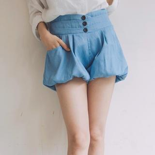 Tokyo Fashion - High-Waist Bubble-Hem Denim Shorts