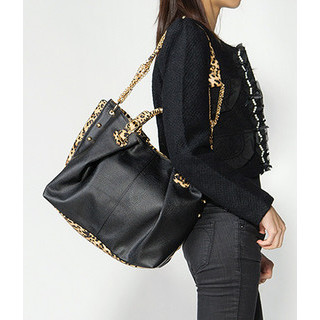 59 Seconds - Leopard Print Detail Satchel
