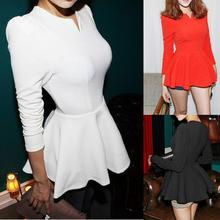 Forest Of Darama - Long-Sleeve Peplum Top