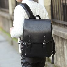 BagBuzz - Faux Leather Flap Backpack