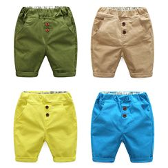 WellKids - Kids Cuffed Button Shorts