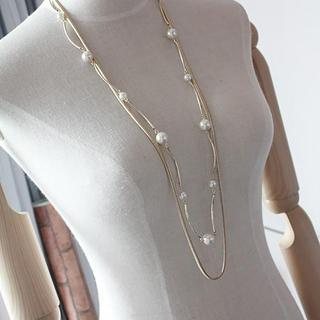 Love Generation - Faux Pearl Double Strand Necklace