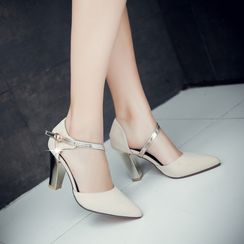 Gizmal Boots - Block Heel Pumps