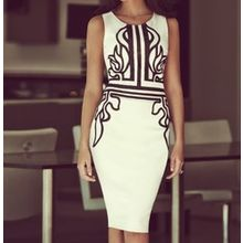 Forest Of Darama - Print Sleeveless Sheath Dress