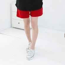 RingBear - Elastic-Waist Cotton Shorts