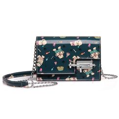 BeiBaoBao - Faux-Leather Printed Cross Bag